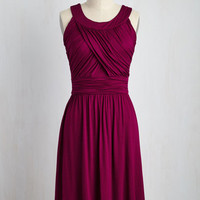 So Happy to Gather Dress in Raspberry