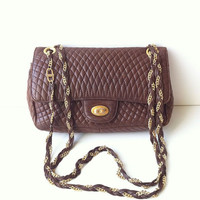 Vintage Bally Lambskin Quilted Chain Bag