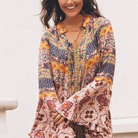 Be With You Berry Mix Bell Sleeve Dress