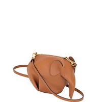 Loewe Leather Elephant Mini Bag, Tan