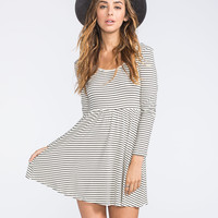 FULL TILT Stripe Skater Dress 252166168 | Boho Grunge