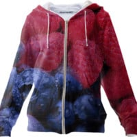 Blueberry and Raspberry Zip Up Hoodie created by ErikaKaisersot | Print All Over Me