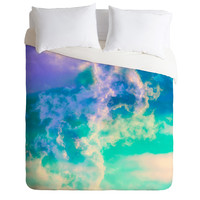 Caleb Troy Mountain Meadow Painted Clouds Duvet Cover