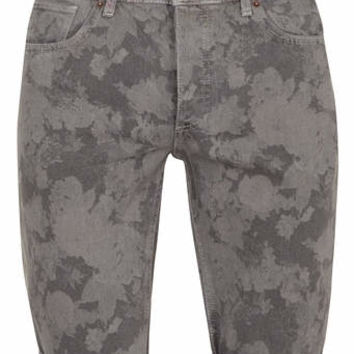 Grey Skinny Floral Denim Shorts - New This Week - New In