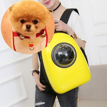 Fashion Pet Dog Cat Outdoor Carrier Backpack Travel Space Capsule Tote Bag