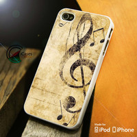 Music Note iPhone 4 5 5c 6 Plus Case, Samsung Galaxy S3 S4 S5 Note 3 4 Case, iPod 4 5 Case, HtC One M7 M8 and Nexus Case