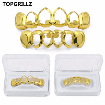 Open Face Gold Mouth Grillz