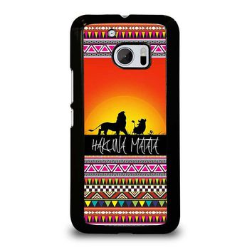HAKUNA MATATA LION KING SUNSET AZTEC  HTC One M10 Case Cover