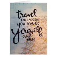 Travel Far Enough, You Meet Yourself. Card