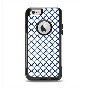 The Navy & White Seamless Morocan Pattern V2 Apple iPhone 6 Otterbox Commuter Case Skin Set