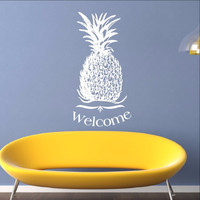 Pineapple Welcome Vinyl Wall Decal 22310