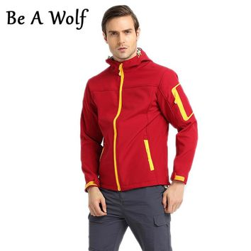 Be A Wolf Softshell Hiking Jackets Men Women Outdoor Fishing Hunting Clothes Camping Skiing Jacket Windbreaker Waterproof 1602