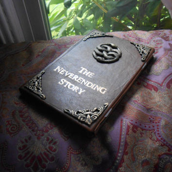 Neverending Story Book Leather Cover for Kindle by AnEnchantedFate