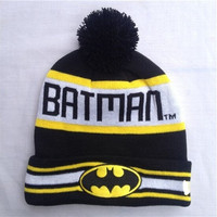 New Fashion Case Tops Cover New Design 2015 Winter Women Men's Batman Beanies Hats Knitted Skullies with Words B2w1 [9221462084]
