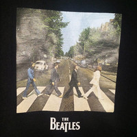 "The Beatles Black ""ABBEY ROAD"" Short Sleeve T-Shirt Mens Size L Shirt Tee Retro"