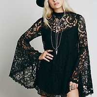Free People Womens Wanderer Lace Dress