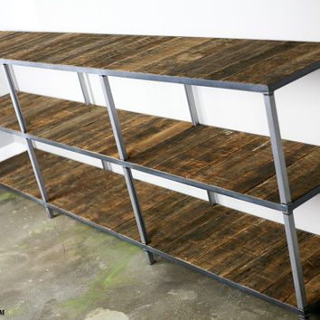 Reclaimed wood bookcase (different choices avail.) Custom Configurations Available Rustic/modern/industrial look (book case/shelving unit
