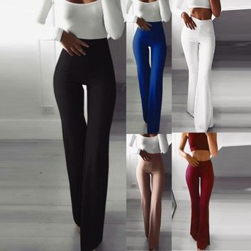 Women's Bell Bottom Designed Slim Fit Pants