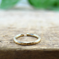 Hoop Earrings Gold Filled Endless Face Hammered Single