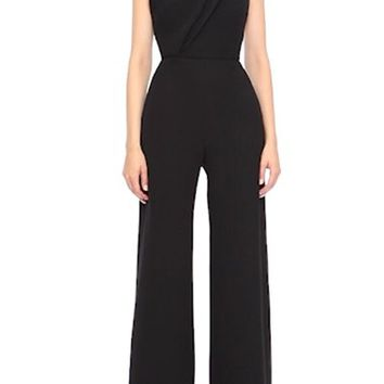 Brandon Maxwell One-Shoulder Wide Leg Jumpsuit | Nordstrom