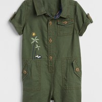 Embroidered Shorty One-Piece | Gap
