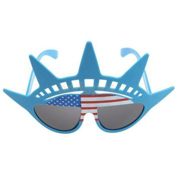 ESBON US Flag Glasses Cocktail Hawaiian Novelty Adult Costume Hens Stag Party Accessory Fancy Dress Shade Shutte Sun Glasses
