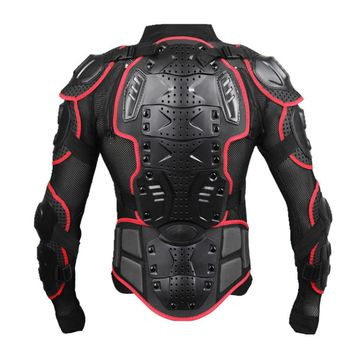 Wosawe Professional Motorcycle Body armor Protector Motocross back support men Spine Chest shield Protective Jacket Gear
