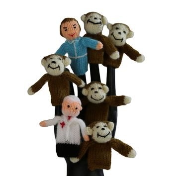 5 Little Monkeys Finger Puppet Set of 7 - Global Handmade Hope