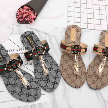 Gucci Trending Casual Women Flip-Flops Print Sandal Slipper Shoes G-GCXGCFH-GC