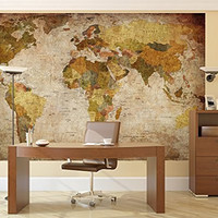 Prepasted Wall Mural Foto Wall Decor, World Map, 82.7 inch- 55.5 inch WITH BONUS ONLY FOR YOU