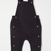 Cotton Bib Overalls - Dark gray - Kids | H&M US