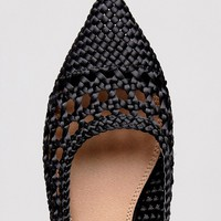 ASOS LOOPHOLE Weave Ballet Flats at asos.com