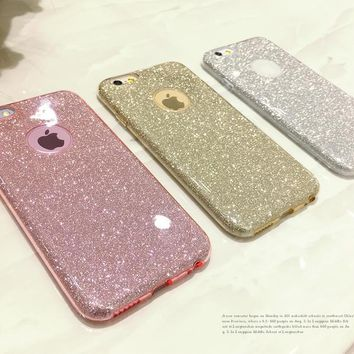 Crystal Soft Gel TPU For Samsung Galaxy A3 A5 J5 G360 G530 S5 S6 S7 Edge S8 Plus 2016 2017 Ultra Thin Glitter Bling cover case