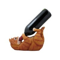 The Orange Faux Cat Resin Wine Bottle Holder