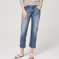 Relaxed Cropped Jeans in Americana Blue Wash