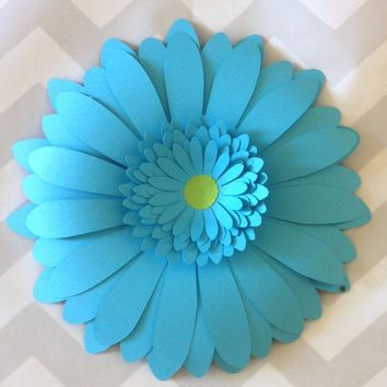One 8 Inch Gerber Daisy Wall Flower, Giant Gerbera Paper Flower, You Choose Color