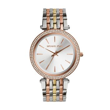 Michael Kors Women's Darci Tri-Tone Watch MK3203