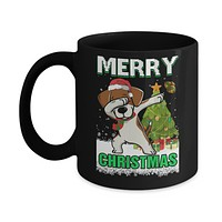 Cute Beagle Claus Merry Christmas Ugly Sweater Mug