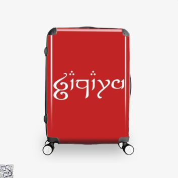 Zachary In Elvish, Lord Of The Rings Suitcase