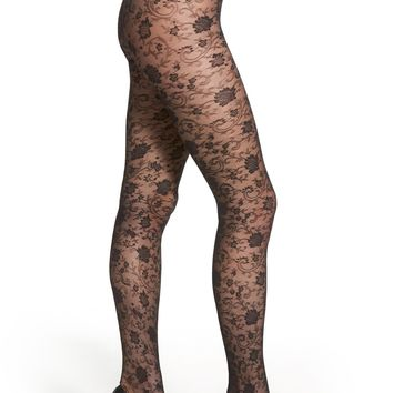 DIM Floral Lace Pantyhose | Nordstrom