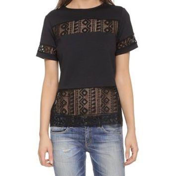 Generation Love Rebecca Lace Insert Top