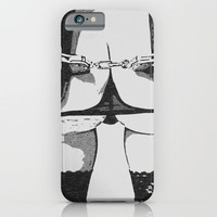 Erotic art, naughty BDSM, bondage play, sexy nude, slim & fit girl tied, booty view and stockings iPhone & iPod Case by Peter Reiss