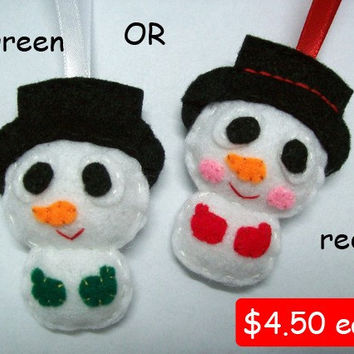 Cute Christmas Ornament/Keyring/Plush/Brooch - Snowman