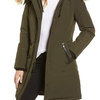Vince Camuto Down & Feather Fill Parka with Faux Fur Trim | Nordstrom