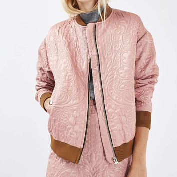 Quilted Bomber Jacket - Jackets & Coats - Clothing