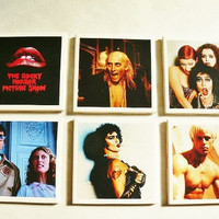 Rocky Horror Coaster Set by happyphamily on Etsy