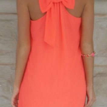 Bowknot Sleeveless Dress