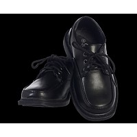Oxford Lace Tie Dress Shoes Black Matte Finish    Boys Size 5 toddler to 6 youth