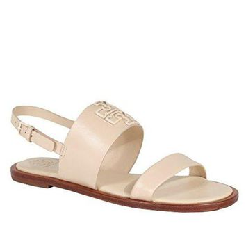 LMF3DS Tory Burch Melinda Sandal Shoes Flat Leather Powder Coated