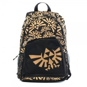 Bioworld  Legend Of Zelda Nintendo Logo Black Backpack
